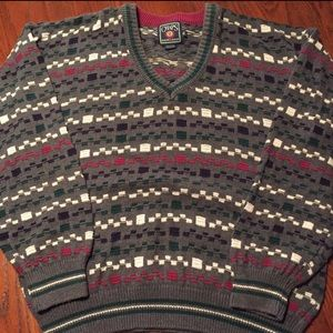 CHAPS Ralph Lauren Sweater Mens XL Cosby Christmas